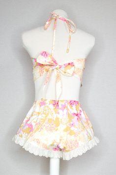 SARAH SET - SWEET SUMMER Ruffle Trim, Lace Trim, Festival One, Comfy Shorts, Halter Crop Top, Cute Tshirts, Princess Seam, Girly Girl, Dreams