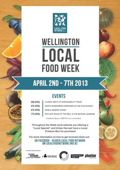 Wellington Local Food Week by Elise Catalinac, via Behance Rockwell Catering and Events
