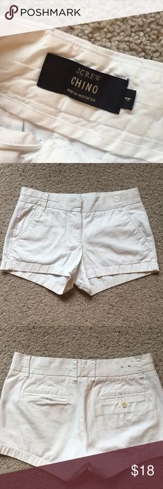 """{JCrew} Chino Shorts White 3"""" chino shorts from JCrew 