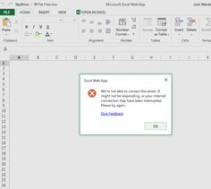 Microsoft Office 360 Excel Web App not responding APR2013