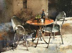 【對號入座 / The Afternoon】27x 37 cm , Watercolor demo by 簡忠威 Chien Chung-Wei
