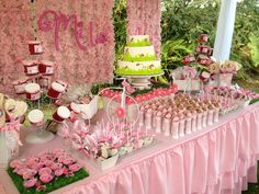 "Photo 1 of 11: Pink Ladybugs / Birthday ""Garden First Birthday"" 