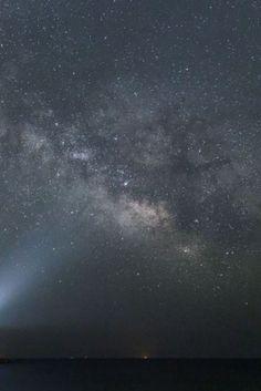 Ο Γαλαξίας πάνω από το Ναό του Ποσειδώνα στο Σούνιο