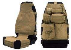 Smittybilt Tactical G. Seat Covers can fit most Jeep models, front and rear seats. They have five pouches that can be arranged in different ways. Jeep Xj Mods, Truck Mods, Jeep Cj7, Jeep Wranglers, Tactical Seat Covers, Iveco Daily 4x4, Accessoires 4x4, Vw T3 Syncro, Vw Amarok
