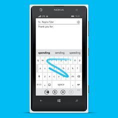 Swipe to type with Windows Phone 8.1