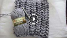 Braid Puff Stitch Cowl Crochet Pattern Tutorial