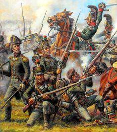 Saxony light infantry brigade 1812 Gorodechna Battle. Anatoly Telenik
