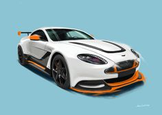 Aston Martin GT12. Painting by Jonas Linell 2016.