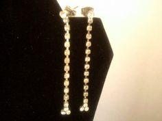 Earrings Long Dangle Rhinestone Earrings 3 by SocialmarysTreasures, $8.99