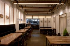 Dohyun Korean Restaurant by Twoply, Jeonju – South Korea Korean Bbq Restaurant, Japanese Restaurant Design, Restaurant Plan, Modern Restaurant, House Restaurant, Retail Interior Design, Restaurant Interior Design, Wood Cafe, Cafe Concept