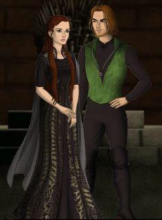 Misapinoa Black and her fiance Jimbo Blishwick. Jimbo was a Slytherin too.