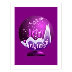 Snow globe in purple Special Characters, Lower Case Letters, Lowercase A, All Design, Fine Art Paper, New Art, Snow Globes, Fine Art Prints, Wall Decor