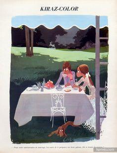 Edmond Kiraz 1971 The lovers, Restaurant