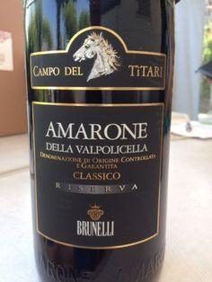 Perfect dinner, perfect wine. Why don't you try a 2012 Campo del Titari Amarone della Valpolicella Classico Riserva? Home Wine Cellars, Italian Wine, Wine Label, Wine Country, Food And Drink, Beer, Drinks, Bottle, Black