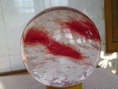 11.08lb SMELT RED QUARTZ CRYSTAL BEAUTIFUL SPHERE BALL ! kl