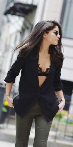 Image result for bralette under jacket