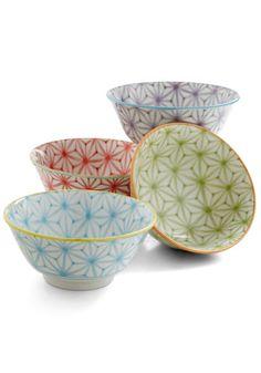 Pattern ceramic bowls #Modcloth