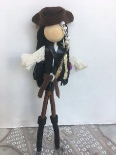 Yarn Dolls, Felt Dolls, Pirate Fairy, Fairy Gifts, Clothespin Dolls, Tiny Dolls, Wooden Pegs, Flower Fairies, Clothespins