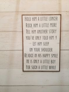 LITTLE BOY | PLAYROOM SIGN | DISTRESSED WALL DECOR | SHABBY CHIC ELEGANT FARMHOUSE ART | KIDS ROOM | FAMILY ROOM :: SIGN Specifics :: Measures approximately 2 x 3 (dimensions include frame) All our signs are made from 3/4 solid wood Picture wire added to the back for easy and durable hanging Enclosed with a primitive style wood frame Finished with protective top coat for long lasting beauty Our wooden signs are made exclusively by the two of us and are painted then perfectly dist...