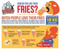 all 'em what you will - friet, friets, patat, Vlaamse Frieten - but one thing is sure, the Dutch can't seem to get enough of 'em! In fact, they love 'em so much they eat over 41 million kilos of these tasty guys per year! (But Dutch people don't just stop at fries. Every Dutchie actually consumes …