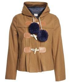 Gorman brown pom pom coat