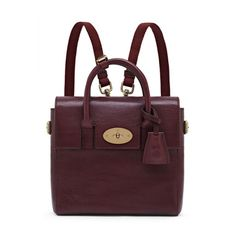 Mulberry AW14 Cara Delevingne Collection - Mini Cara Delevingne Bag in Oxblood Natural Leather