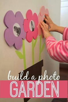 Spring themed photo wall
