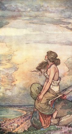 """Illustration by W. Heath Robinson for """"A Song Of The English,"""" a poem by Rudyard Kipling."""