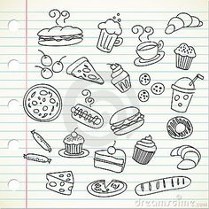 Food doodle by Mhatzapa | Thinkvector, via Dreamstime