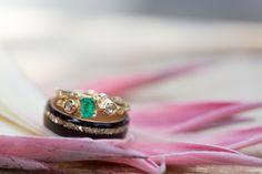 Rustic Emerald Engagement Ring   Nature Inspired Wedding Shoot   Vibrant Boho Romance Styled Shoot - Big Sur, CA   Borrowed & Blue