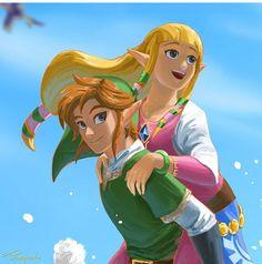 Zelda Skyward, Skyward Sword, Link Zelda, Zelda Breath Of Wild, Breath Of The Wild, Childhood Friends, Popular Videos, Legend Of Zelda, All Art