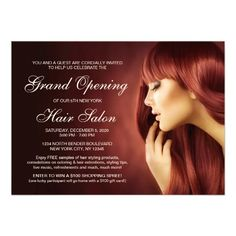 Hair Salon Grand Opening Invitation Templates