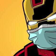 Use face mask and have fun! Superhero Pop Art, Spiderman Art, Pop Disney, Disney Art, Mundo Marvel, Zombie Art, Marvel Wallpaper, Marvel Art, Marvel Cinematic