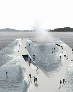 - Water Pavillion by Daniel Valle Architects in Yeosu Location in South,Korea Water Architecture, Pavilion Architecture, Concept Architecture, Futuristic Architecture, Sustainable Architecture, Contemporary Architecture, Residential Architecture, Architecture Design, Wood Pavilion