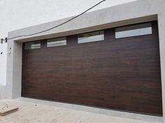 Cleo - Horizontal Grooves and Texture Steel Garage Door Modern Design – Lux Garage Doors Brown Garage Door, White Garage Doors, Carriage Garage Doors, Wood Garage Doors, Contemporary Garage Doors, Modern Garage Doors, Garage Door Styles, Garage Door Design, Garage Door Colors