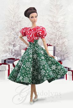 CHRISTMAS COLORS Holiday Swing Fashion for Poppy Parker