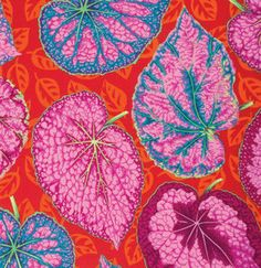 BIG LEAF  Pink  PJ070 Philip Jacobs Kaffe by SewColorfulQuilts
