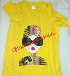 #tshirt #africantshirts #iloveafrica #africandesigner #africanart #artwork #womensworld #nigerianfashion #ladiesfashionblog #fashioninspiration #fashionblogger #africanfashion#followthebuyers#fashion#followforfollow #followme #instagood #instagram #fashionbloggers#instafollow#stylebloggers #fashionblog #madeinnigeria #madeinlagos made by @toproyalcreations #toproyalcreations to order whatsapp 08072680440 African Design, African Art, African Fashion, Style Inspiration, My Love, Lady, Artwork, How To Make, Mens Tops