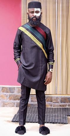 Labaleo African Dresses Men, African Men Fashion, Mens Fashion, Nigerian Men, Sherwani, Menswear, Indian, Clothing, How To Wear