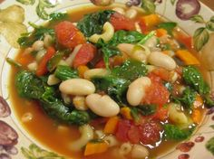Tuscan Spinach Bean Soup