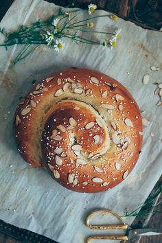 marzipan challah bread for when i feel like a big baking project! via my name is yeh Bread Recipes, Cooking Recipes, Breakfast And Brunch, Jewish Recipes, Bread And Pastries, Challah, Bagels, Sweet Bread, Bread Baking