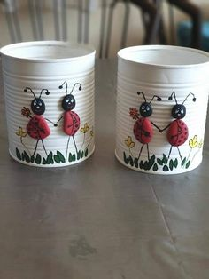 Aluminum Can Crafts, Tin Can Crafts, Easy Diy Crafts, Diy Home Crafts, Jar Crafts, Bottle Crafts, Creative Crafts, Garden Crafts, Stone Crafts