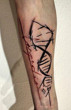DNA helix (Filip Sečka tattoo)  https://www.instagram.com/filipsecka/