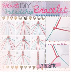 """DIY: Heart Friendship Bracelet"" by the-kawaii-tippers on Polyvore"