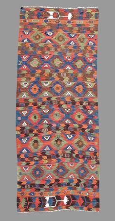 Elmadag Kilim, Turkey, Mid 19th Century. Peter Pap Oriental Rugs www.peterpap.com