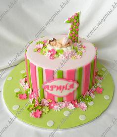 Торт для девочки на 1 год