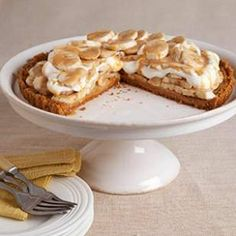 Best Banoffee Pie Recipe Ever! Lightened up version from EatingWell