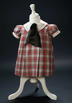 "Love, Shirley Temple, Collector's Book: 27 The Red Plaid ""Good Ship Lollipop"" Dress Worn by Shirley in 1934 Film ""Bright Eyes"""