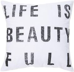 Life is beauty full throw pillow
