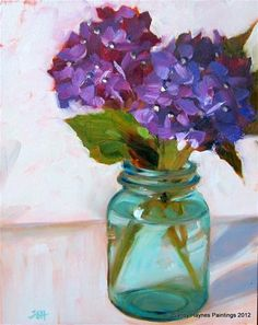 """Purple perspective"" - Original Fine Art for Sale - © Sandy Haynes"